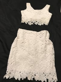 white floral lace spaghetti strap dress Indio, 92201