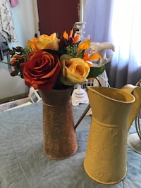 2 metal pitchers with gorgeous high end floral arrangement Bakersfield, 93308