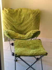 Soft fuzzy green  folding chair & stool! Brampton, L6X 2V2