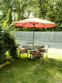 Patio table set for four JUST REDUCED Eatontown, 07724