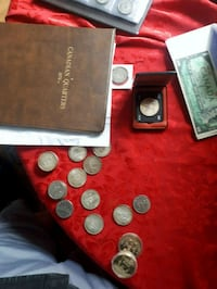 LAST SALE COIN BOOK WITH BILS AND COINS ON SIDE Calgary