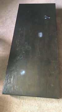 Black and gray wooden table. Los Angeles, 91406