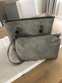 Grey faux leather tote Dorval, H9P