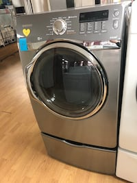 Samsung gray gas dryer with pedestals Woodbridge, 22191