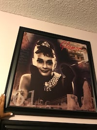 black wooden framed photo of Audrey Hepburn Santa Maria, 93454