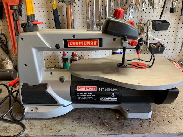 """Craftsman 16"""" Variable Speed Scroll Saw 20c0e428-0e72-4298-8f3e-167264d7059d"""