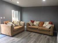 Beige Sofa/Couch with cushions San Diego
