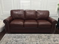 High grade real leather sofa in chestnut brown Richmond Hill, L4E 0J8