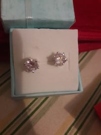 pair of silver-and-White Sapphire studded earrings Glendale, 85301