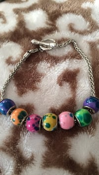 Charm bracelet with beads