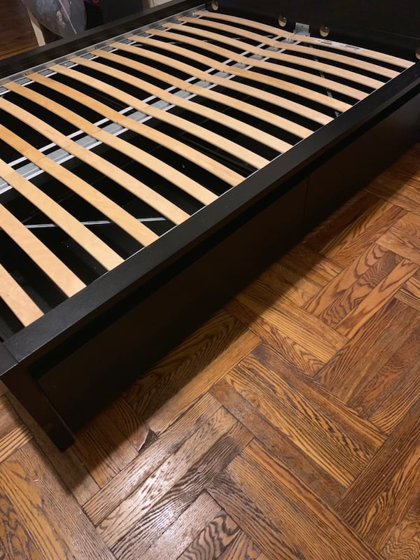 Bed  with  drawers for storage (Ikea) 5173406b-358d-45a1-854a-f3568aa6c96d