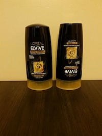 Large shampoo and conditioner