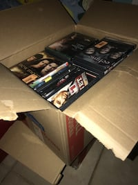 Boxes Full Of DVDs & CDs