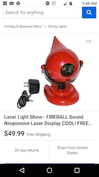 Fireball brand music responsive laser machine.... Difficult to find. Mount Jackson, 22842
