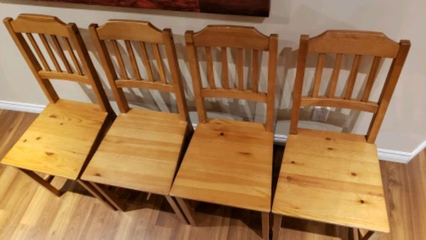 Wood  chairs - antique stain 3