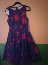 women's blue and pink floral sleeveless dress Manorville, 11949