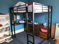 full size loft bed with built in desk