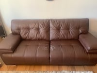 Brown Bonded Leather Sofa Chicago, 60654
