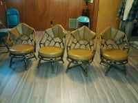 4  spinning leather chairs Rockville, 20853