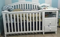 White baby crib in good condition  Homestead, 33031