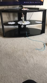 Black framed glass tv stand Grimsby, L3M