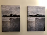 two black-and-white abstract paintings Los Angeles, 90024