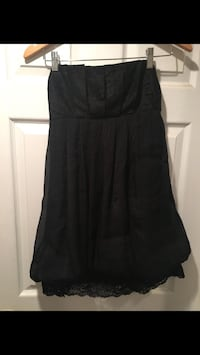 Strapless black dress 542 km