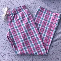 PINK AND BLUE PYJAMA PANTS SIZE XS/SMALL LABELLED JUNIOR XL ADJUSTABLE WAIST BRAND NEW