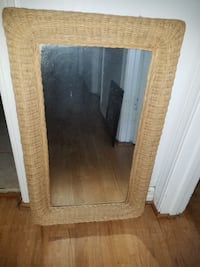 "Pier 1 Imports wicker mirror 21""×34"" 98056"