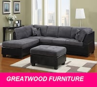 SECTIONAL SOFA WITH FREE STORAGE OTTOMAN Brampton