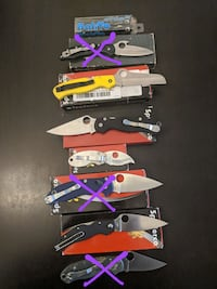 Spyderco, Benchmade, Leatherman knives and multito