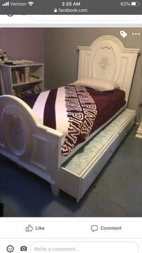 Girls trundle bed, dresser and nightstand - Selling as complete set