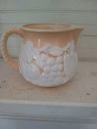 white and brown ceramic pitcher Buford, 30518