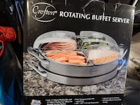 ROTATING HEATED BUFFET SERVER - NEW - $25 (MONROVIA, MD 21770)  39 km