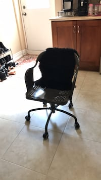 desk chair + sheepskin cover Vaughan, L4H 0W9