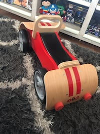 Wooden ride on car