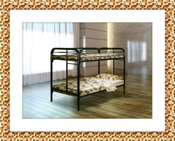 Twin bunkbed frame with free mattress and delivery