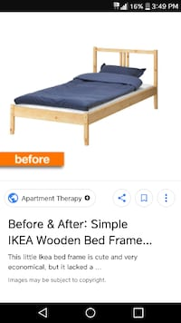 1 double wooden ikea bed frame and 1 single wooden ikea bed frame. Both for 40.. Just frames Edmonton