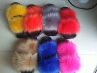 Fur slides 7 colors  most comfortable Milwaukee, 53218