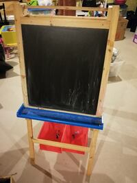 brown and blue wooden easel ALLISTON