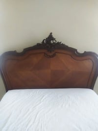 Bed...double with matress. Hand carved walnut Huntington Beach, 92648