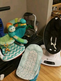 baby's white and green bouncer Odenton, 21113