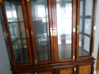 brown wooden framed glass display cabinet Germantown, 20876