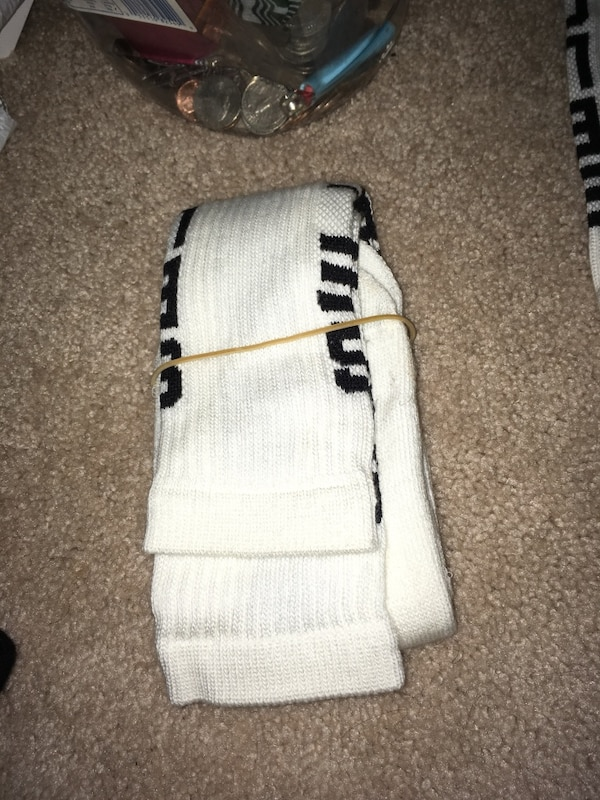 Black and white soccer socks
