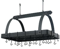 Old Dutch Graphite pot rack with grid and 24 hooks Douglasville