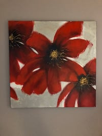 red and white flower painting Toronto, M4T 1K2