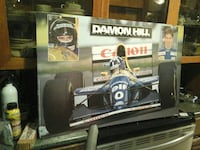 Damon hill poster .  F1 racing poster on corrugate North Saanich, V8L 3Z5