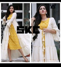 women's white and yellow dress Leicester, LE4 6EE