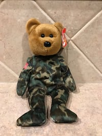 "Ty Beanie Babie ""HERO"" USA Military Soldier Bear with Flag on Arm   Cibolo, 78108"