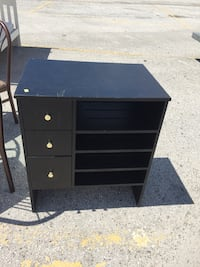black wooden 3-drawer chest Wesley Chapel, 33543